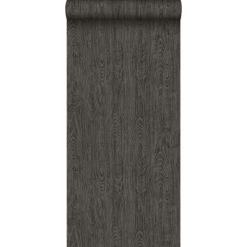 papel pintado tablas de madera con grano de madera gris oscuro