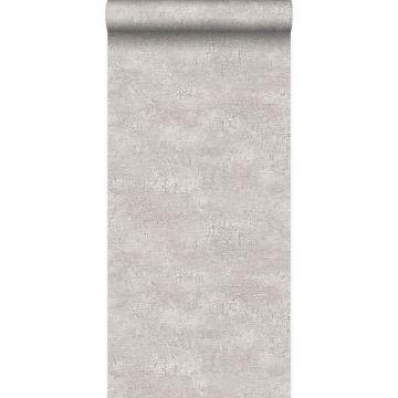 papel pintado piedra natural con efecto craquelé gris claro