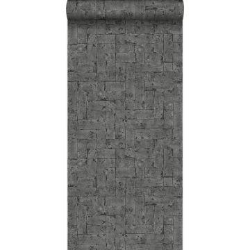 papel pintado pared de ladrillos negro