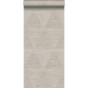 papel pintado triángulos de metal desgastado, alterado y resistido plata cálido