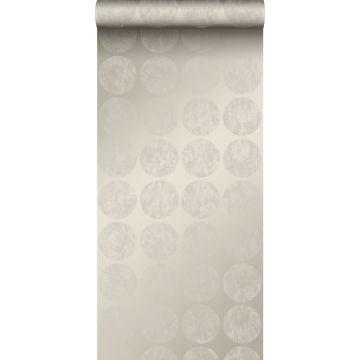 papel pintado grandes esferas alteradas resistidas plata cálido