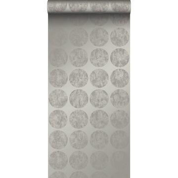 papel pintado grandes esferas alteradas resistidas gris oscuro