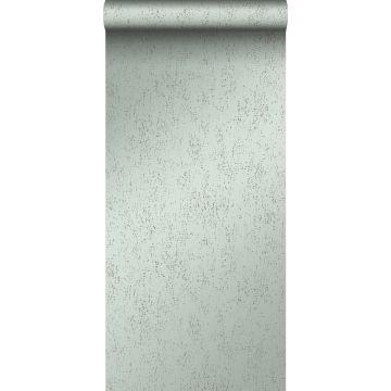papel pintado placa de metal corroída desgastada, alterada y resistida verde laguna