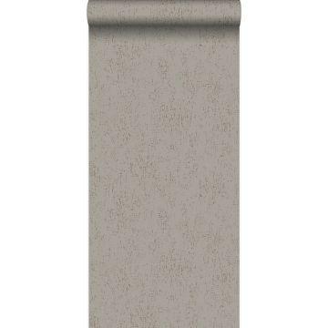 papel pintado placa de metal corroída desgastada, alterada y resistida gris pardo