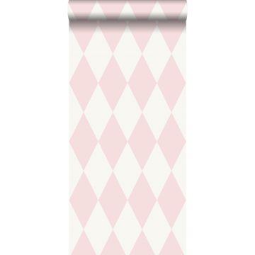 papel pintado rombo rosa brillante