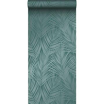 papel pintado hojas de palmera verde esmeralda
