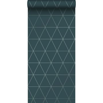 papel pintado triángulos gráficos azul