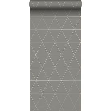 papel pintado triángulos gráficos gris cálido