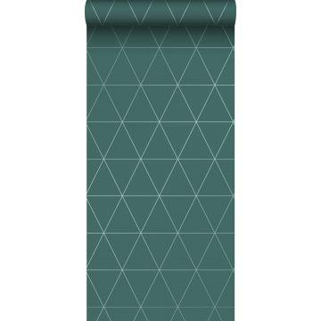 papel pintado triángulos gráficos verde