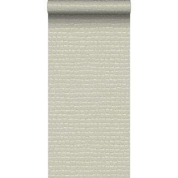 papel pintado piel de cocodrilo blanco