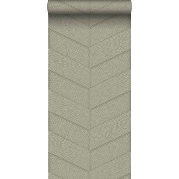 papel pintado motivo de azulejos con imitación de piel de serpiente beige