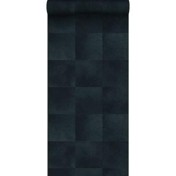 papel pintado textura de piel de animal azul tinta