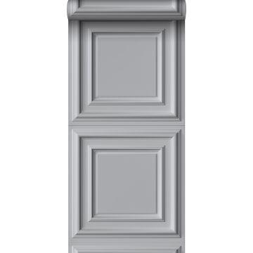 papel pintado lambris gris