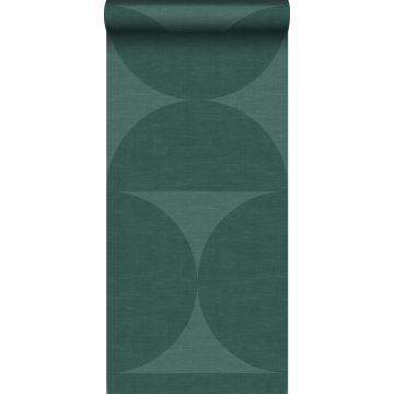 papel pintado XXL semicírculos verde oscuro
