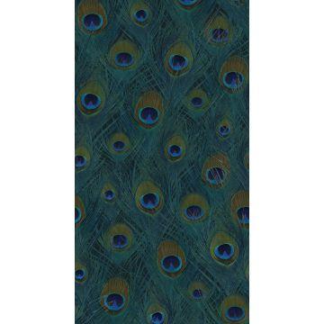 fotomural plumas de pavo real verde mar