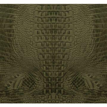 fotomural piel de cocodrilo verde musgo