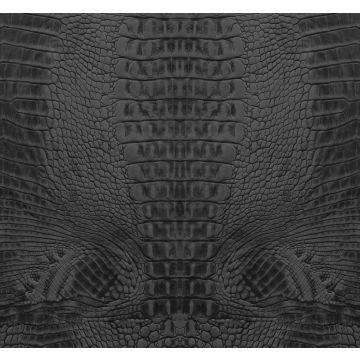 fotomural piel de cocodrilo negro