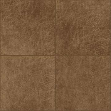 paneles eco-cuero autoadhesivos cuadrado marrón coñac