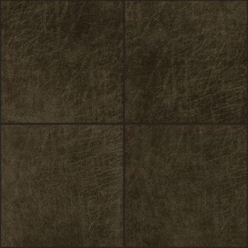 paneles eco-cuero autoadhesivos cuadrado marrón oscuro