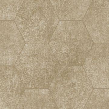 paneles eco-cuero autoadhesivos hexágono beige arena