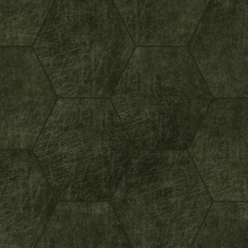 paneles eco-cuero autoadhesivos hexágono verde oliva agrisado