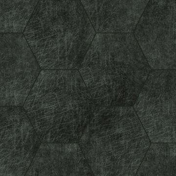 paneles eco-cuero autoadhesivos hexágono gris carbón