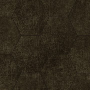 paneles eco-cuero autoadhesivos hexágono marrón oscuro