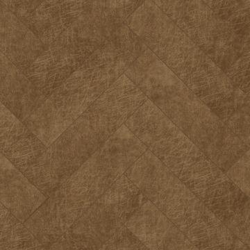paneles eco-cuero autoadhesivos chevron marrón coñac