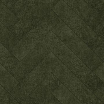 paneles eco-cuero autoadhesivos chevron verde oliva agrisado