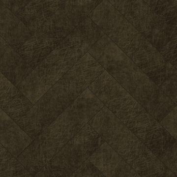 paneles eco-cuero autoadhesivos chevron marrón oscuro